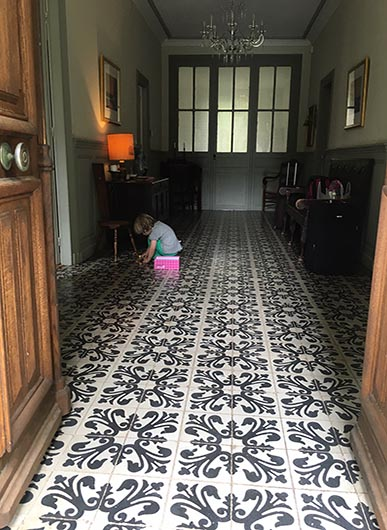 The Hallway at the French Rural Retreat with The Little Voyager