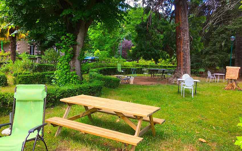 The Picnic Area at the French Rural Retreat with The Little Voyager
