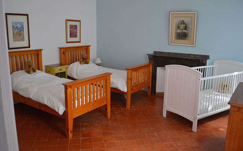 The Twin Room at The French Rural Retreat with The Little Voyager