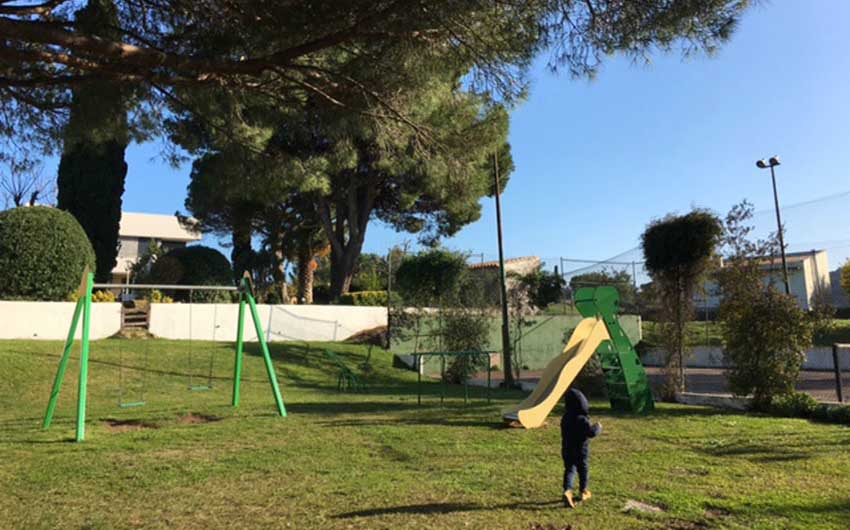The Playground at the Costa Brava Garden Villa with The Little Voyager