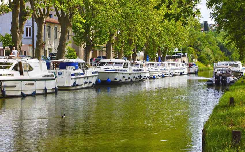 River Boats in Languedoc Roussillon, France, with The Little Voyager