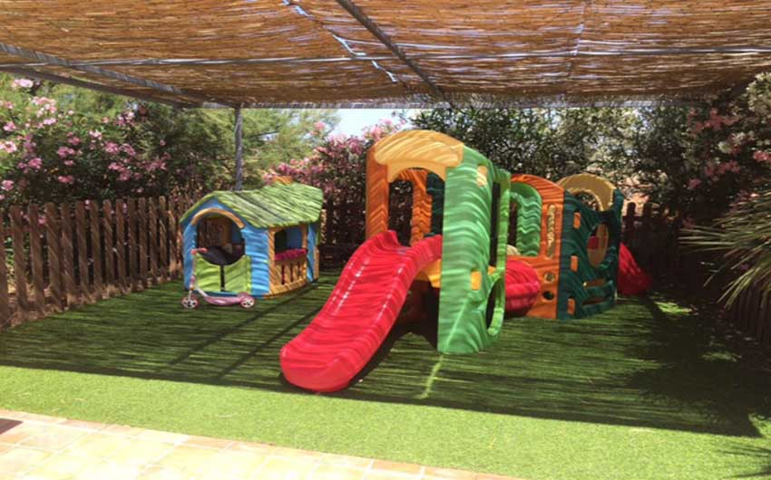The Mallorcan Family Hotel Play Area with The Little Voyager