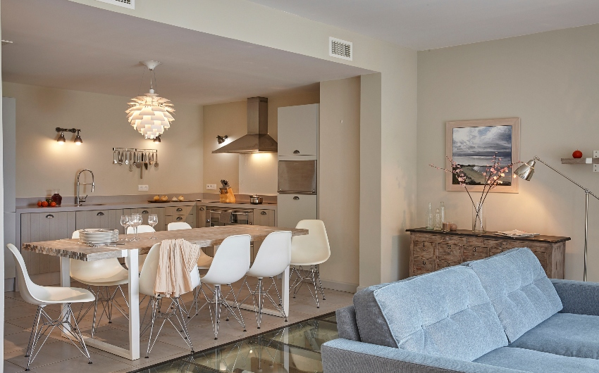 Dining and living area at French Wine Estate