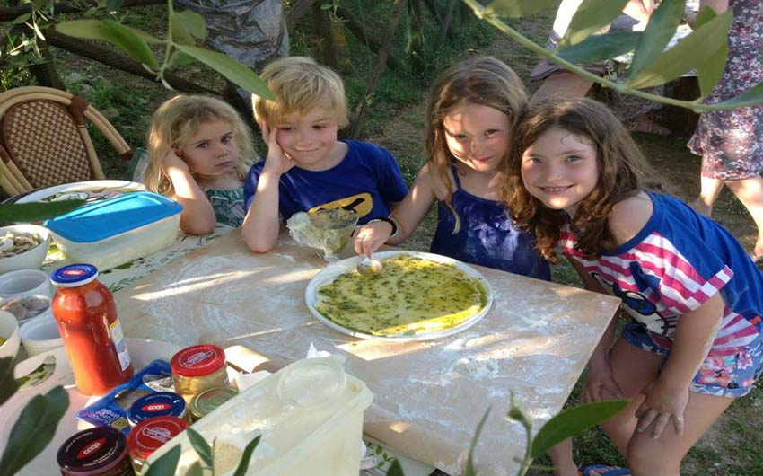 Making Pizzas at The Little Voyager's Umbrian Cottages