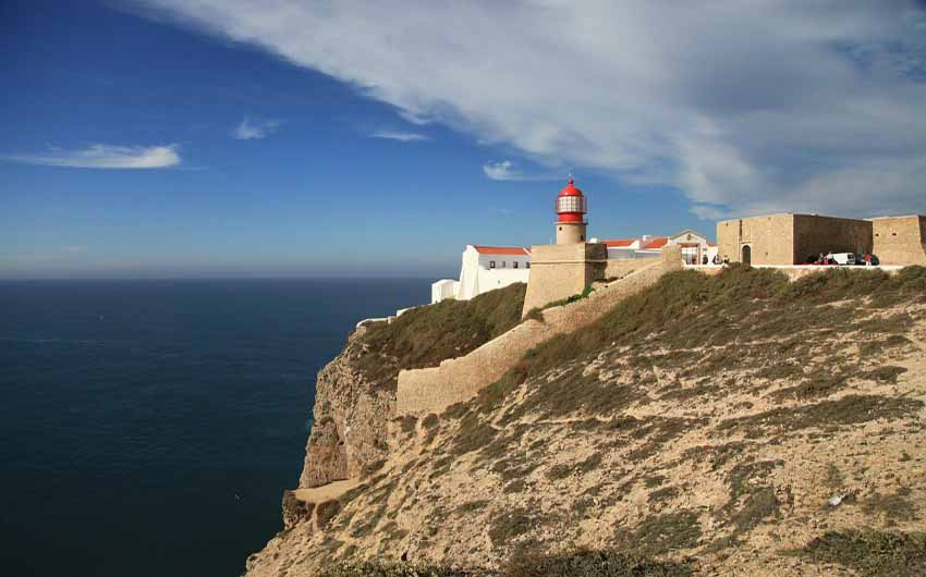 Lighthouse in Algarve, Portugal, from the Little Voyager