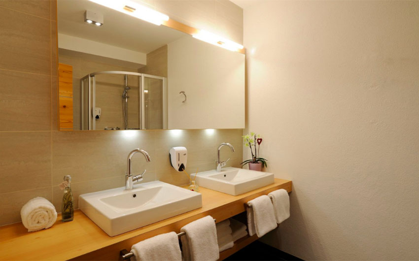 The Austrian Alpine Apartments Bathroom with The Little Voyager