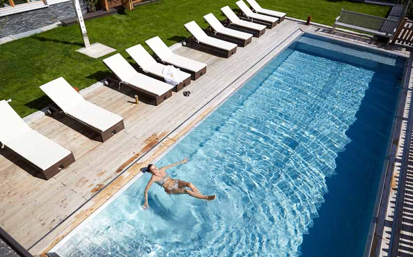 Austrian Alpine Apartments Swimming Pool with The Little Voyager