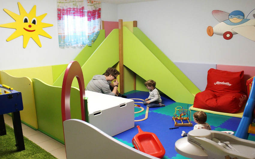 Austrian Alpine Apartments Playing Area with The Little Voyager