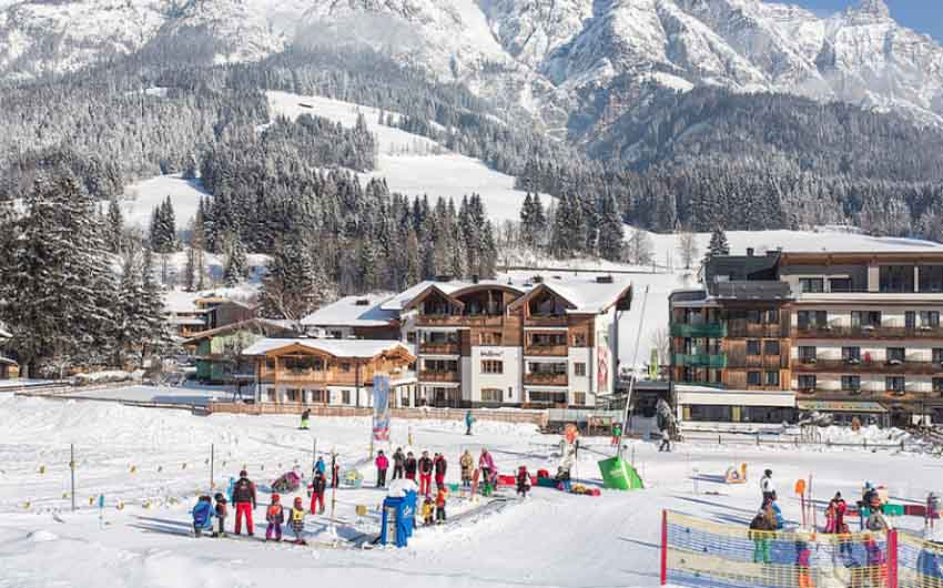 Austrian Alpine Apartments Ski Slopes with The Little Voyager