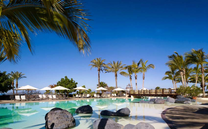 The Ritz Carlton Abama Main Swiming Pool with The Little Voyager