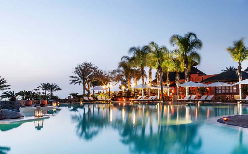 The Ritz Carlton Abama Swimming Pool with The Little Voyager