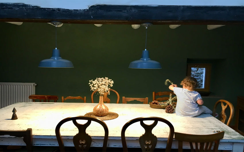 Catalan Farmhouse Dining Table with The Little Voyager