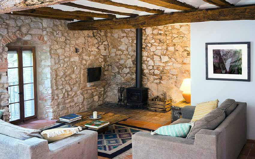 The Catalan Farmhouse Living Room with The Little Voyager
