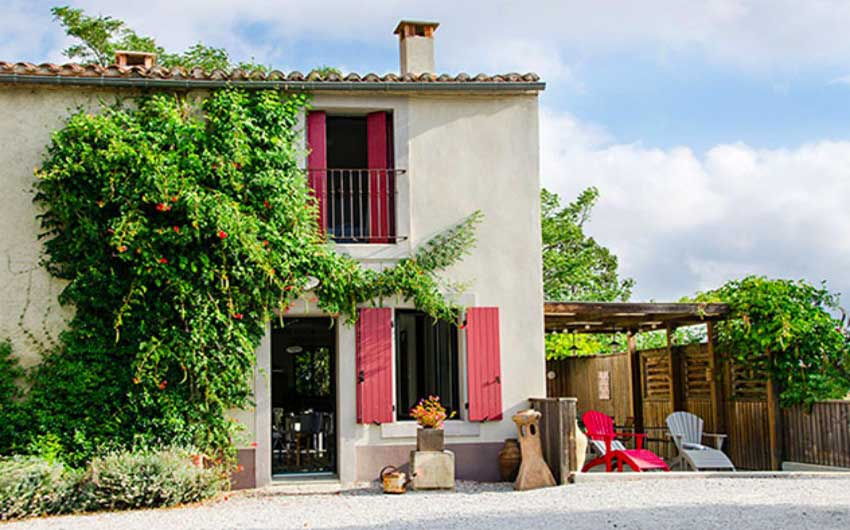 The French Country Boutique Houses Facade with The Little Voyager