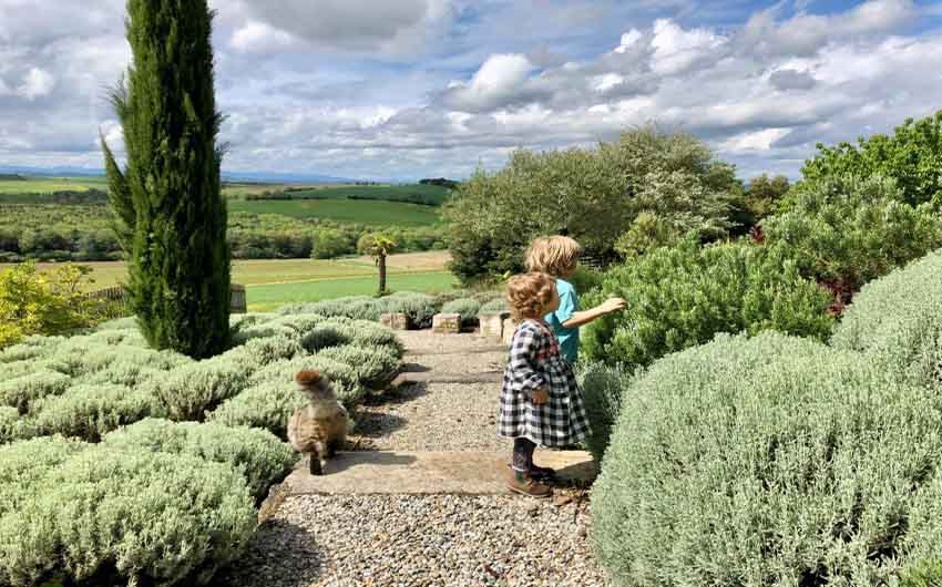 French Country Chic Garden with The Little Voyager