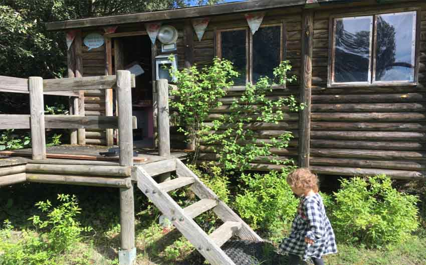 French Country Chic Log Cabin with The Little Voyager