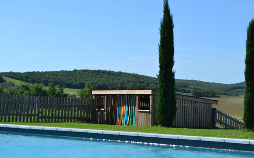 French Country Chic Swimming Pool with The Little Voyager