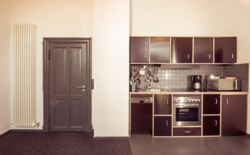 German Farmhouse Apartments Kitchens with The Little Voyager