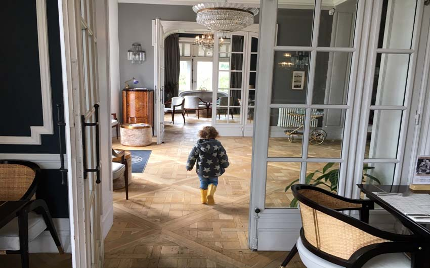 French Chateau Hallways with The Little Voyager