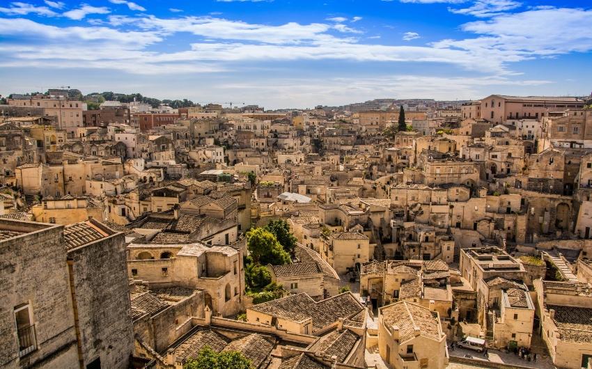 Town of Matera in Puglia