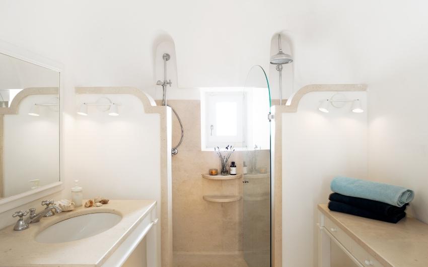 Apulian Twin Villas Bathroom inside Trullo
