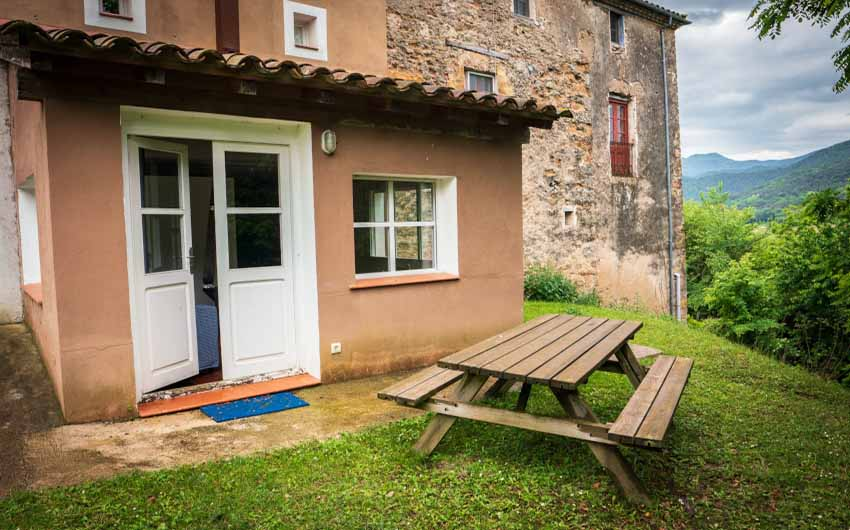 Catalan Rural Escape Back Door with The Little Voyager