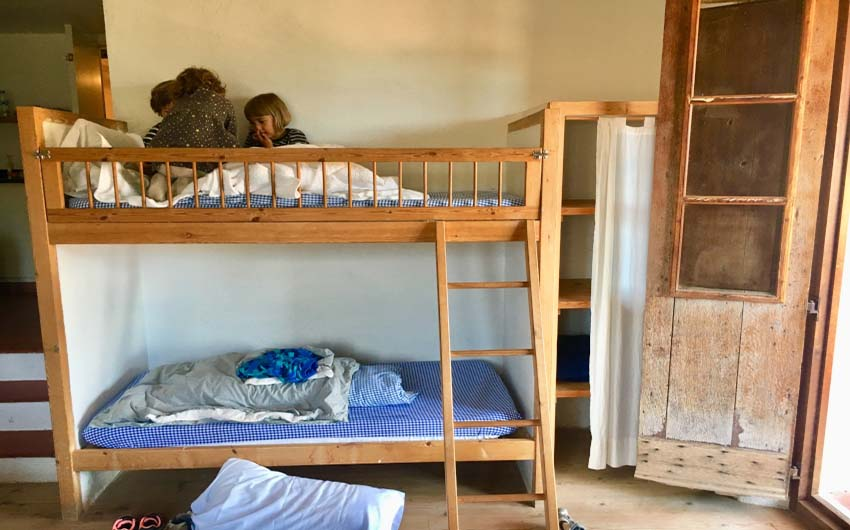 Catalan Rural Escape Bunk Beds with The Little Voyager