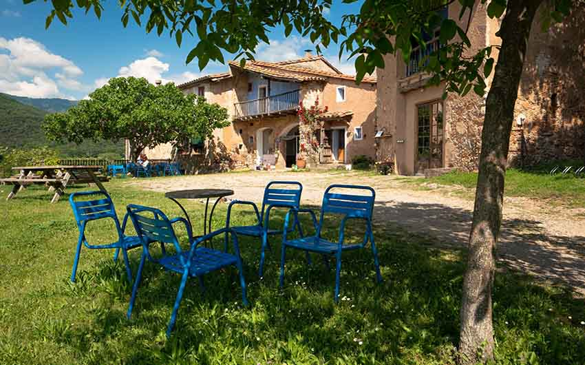 Catalan Rural Escape Garden Chairs with The Little Voyager