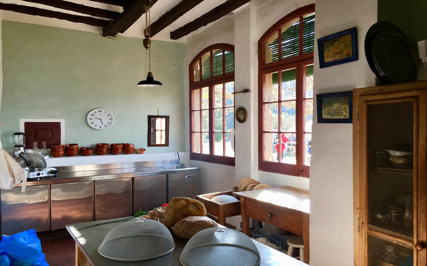Catalan Rural Escape Kitchen with The Little Voyager