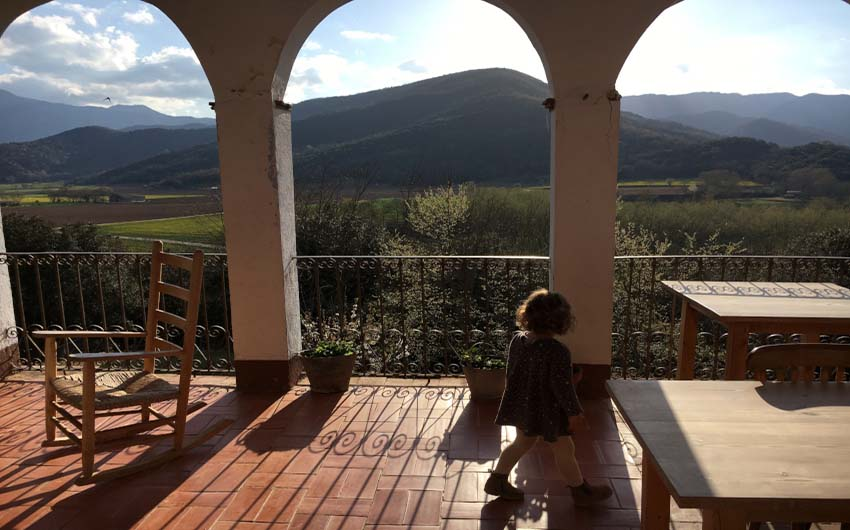 Catalan Rural Escape Terrace with The Little Voyager