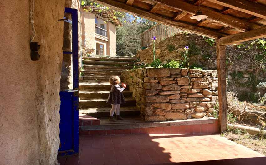 Catalan Rural Escape Terrace Steps with The Little Voyager