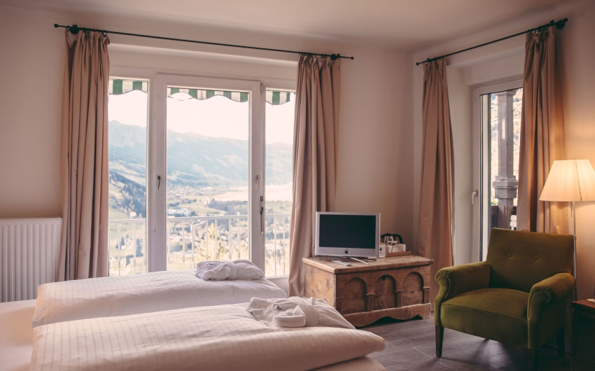 Double room in hotel with view