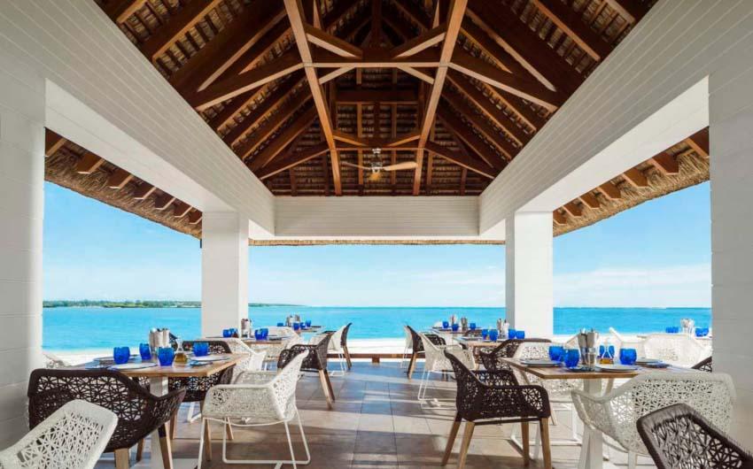 Le Saint Geran Beach Restaurant with The Little Voyager