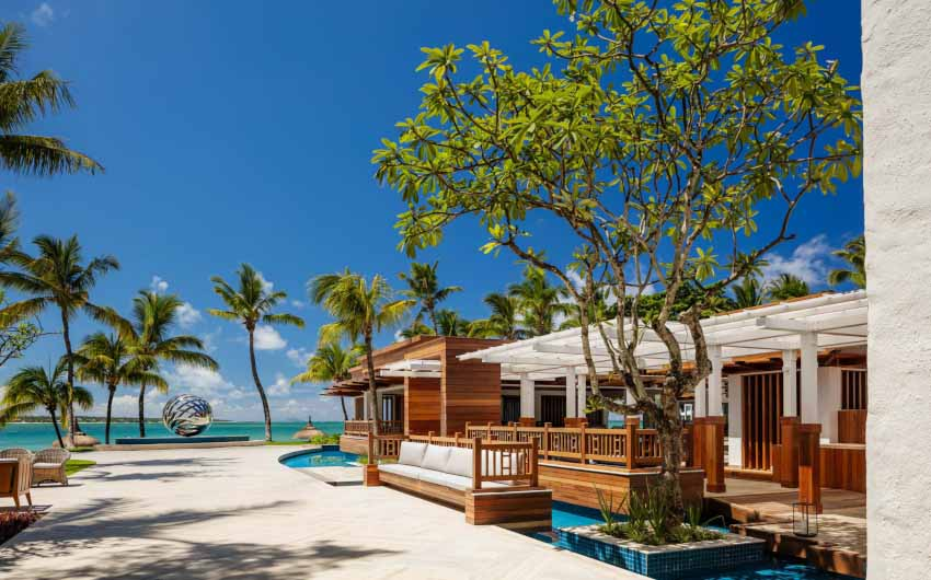 Le Saint Geran Resort Front with The Little Voyager