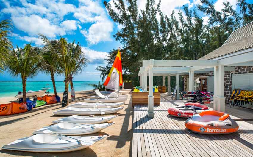 St Regis Resort in Mauritius Beach Deck with The Little Voyager