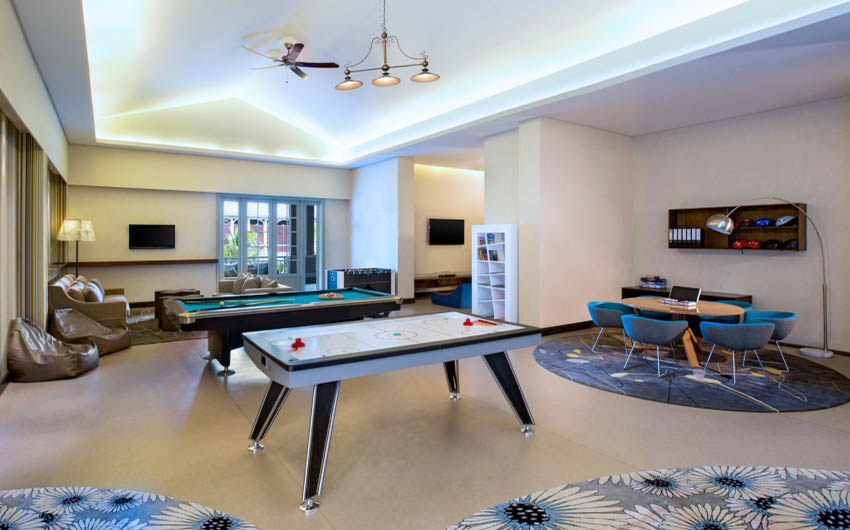 St Regis Resort in Mauritius Games Room with The Little Voyager