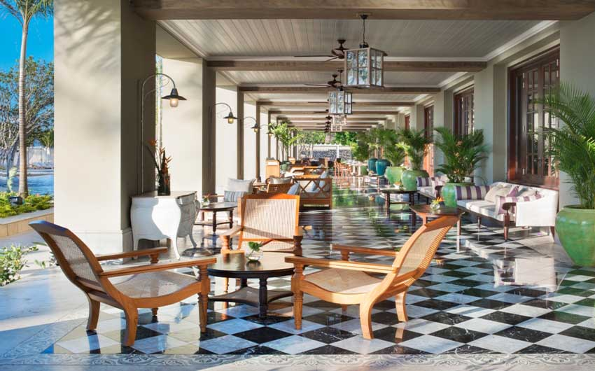 St Regis Resort in Mauritius Veranda with The Little Voyager