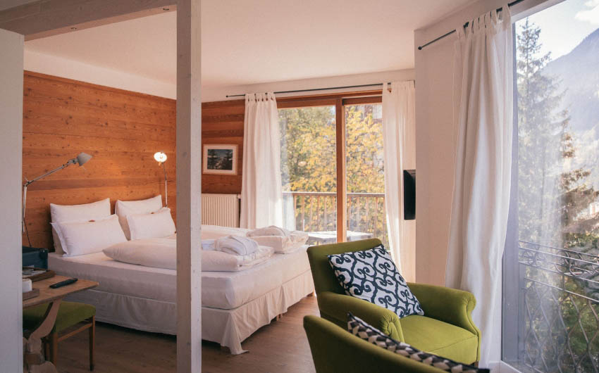 Haus Hirt Hotel Double Bedroom with The Little Voyager