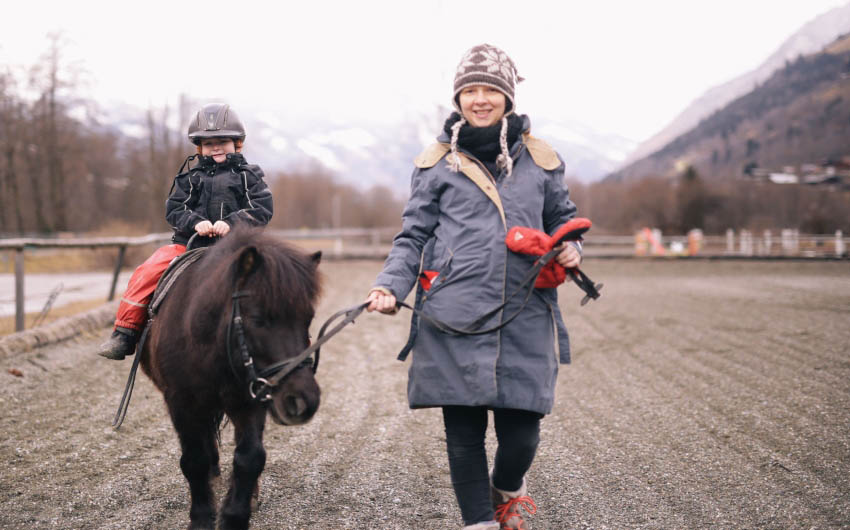 Haus Hirt Hotel Pony Riding with The Little Voyager