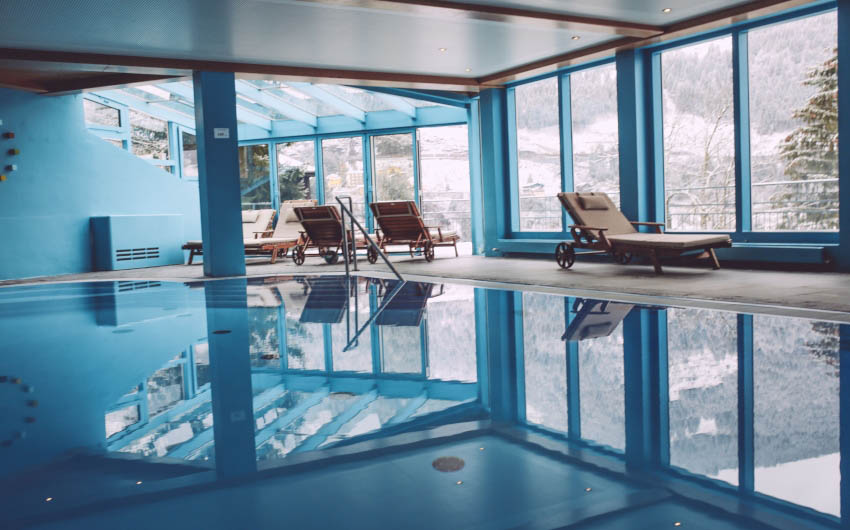 Haus Hirt Hotel Swimming Pool with The Little Voyager