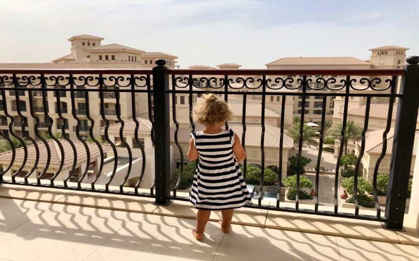 St. Regis Saadiyat Resort Balcony with The Little Voyager