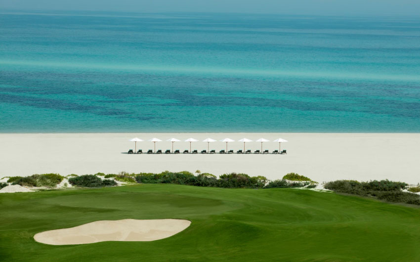 St. Regis Saadiyat Resort Beach with The Little Voyager
