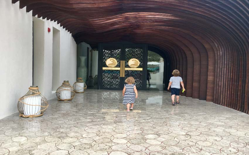 St. Regis Saadiyat Resort Entrance with The Little Voyager