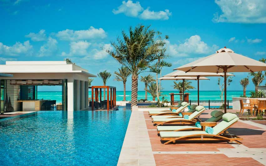 St. Regis Saadiyat Resort Lap Pool with The Little Voyager