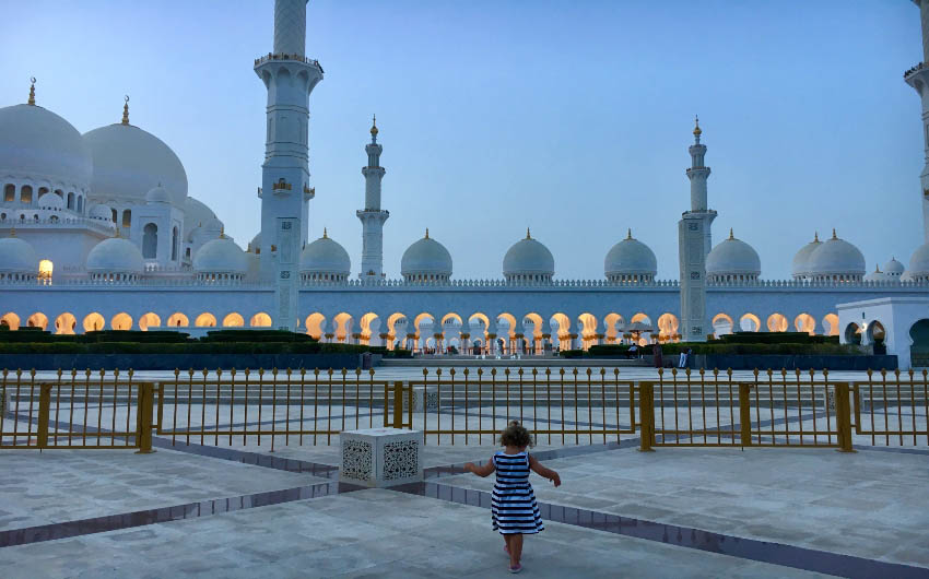 St. Regis Saadiyat Resort's Mosque with The Little Voyager