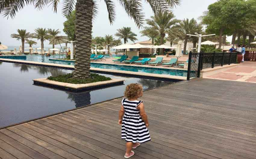St. Regis Saadiyat Resort Pool View with The Little Voyager