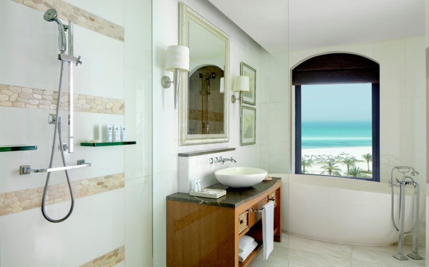 St. Regis Saadiyat Resort's Premium Sea View Bathroom with The Little Voyager