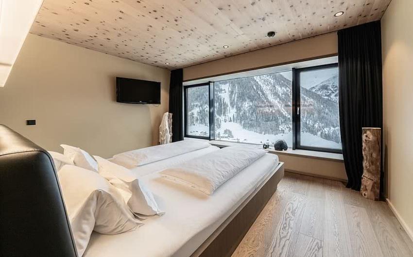 Bedroom in hotel suite