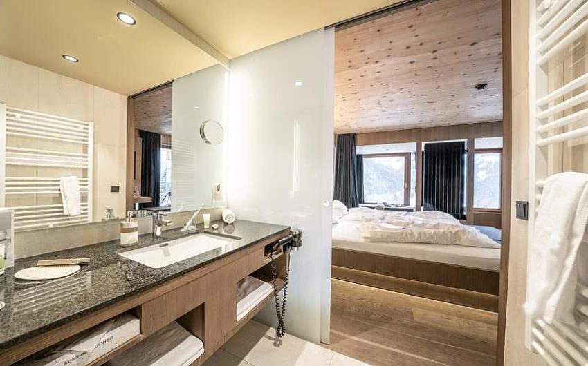 Bathroom in hotel suite