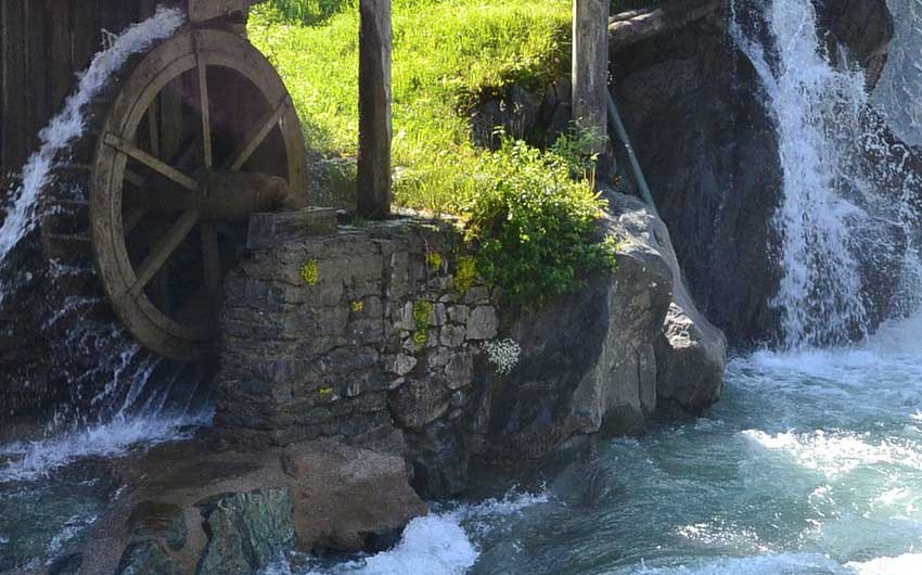 East Tyrol Waterfall with The Little Voyager